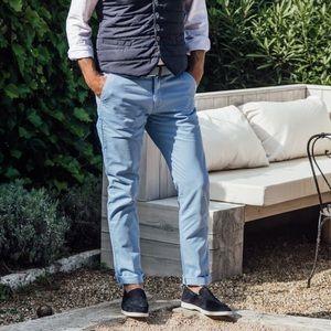 NWT🇫🇷Les Canebiers Chino Tartane Pants - SkyBlue